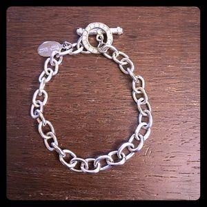 WHBM Silver Rhinestone Toggle Bracelet